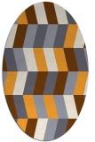 rug #1169307 | oval white abstract rug