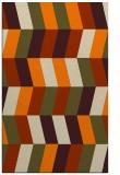 rug #1169311 |  orange abstract rug