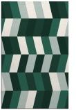 rug #1169443 |  blue-green retro rug