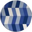 rug #1169727 | round blue retro rug