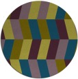 rug #1169755 | round green abstract rug