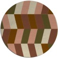 rug #1169827 | round mid-brown retro rug