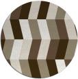 rug #1169839 | round mid-brown rug