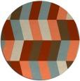 rug #1169895 | round beige retro rug