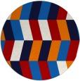 rug #1169935 | round red retro rug