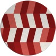 rug #1169943   round red retro rug
