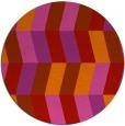 rug #1169947 | round red retro rug