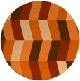 rug #1169955 | round red-orange abstract rug