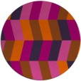rug #1169959 | round red-orange abstract rug