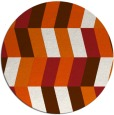 rug #1169963 | round red-orange abstract rug