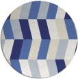 rug #1169975 | round blue rug