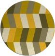 rug #1169995   round yellow retro rug