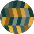 rug #1170007 | round light-orange abstract rug