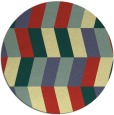 rug #1170011 | round yellow abstract rug