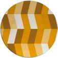 rug #1170031   round light-orange rug