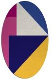 rug #1180123 | oval blue-violet graphic rug