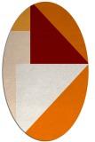rug #1180235 | oval orange abstract rug