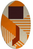 rug #1181863 | oval orange graphic rug