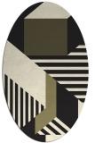 rug #1181887 | oval black geometry rug