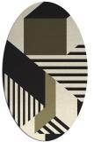 rug #1181888 | oval stripes rug
