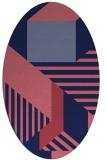 rug #1181955 | oval pink abstract rug