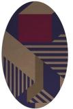 rug #1181967 | oval blue-violet popular rug