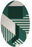rug #1181995 | oval stripes rug