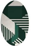 rug #1181997 | oval stripes rug