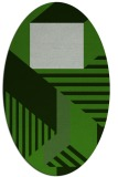 rug #1182003 | oval light-green rug