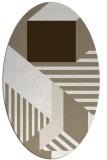 rug #1182023 | oval white stripes rug