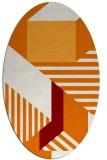 rug #1182075 | oval orange geometry rug