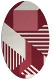 rug #1182091   oval pink abstract rug