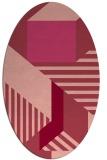 rug #1182095 | oval pink graphic rug