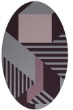 rug #1182115 | oval purple geometry rug
