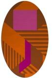 rug #1182143 | oval red-orange graphic rug
