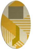 rug #1182179   oval yellow abstract rug