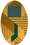 rug #1182191 | oval light-orange stripes rug