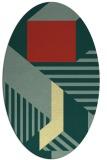 rug #1182198 | oval abstract rug