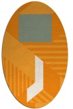 rug #1182223 | oval light-orange stripes rug