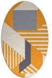 rug #1182227 | oval white stripes rug