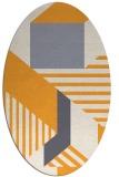 rug #1182228 | oval stripes rug