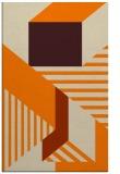 rug #1182231 |  orange abstract rug