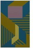 rug #1182307 |  blue-green geometry rug