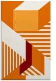 rug #1182443 |  orange geometry rug