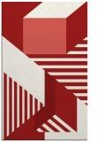 rug #1182495 |  red geometry rug