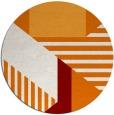 rug #1182811 | round orange stripes rug