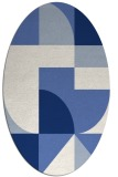rug #1183751 | oval blue graphic rug