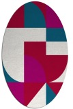 rug #1183819 | oval red abstract rug