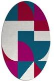 rug #1183821 | oval abstract rug