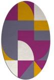 rug #1183871 | oval retro rug